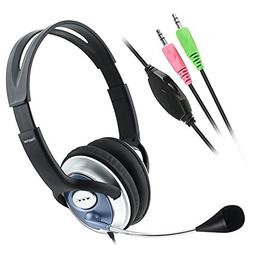 eForCity VOIP/SKYPE Handsfree Stereo w/ Microphone Headset