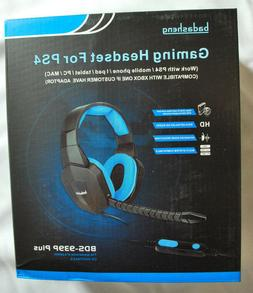 wBadasheng BDS-939P Plus, 5-in1 Gaming Headset for PS4, PC,