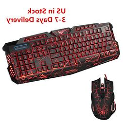 Kollmert New! LED Gaming Wired 2.4G PC Computer Multimedia G
