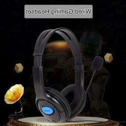 Wired Gaming Headphone Headset with Mic for Sony PlayStation