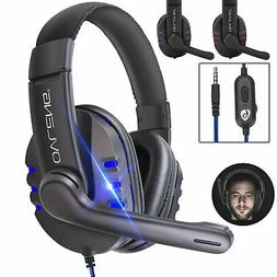 Wired Gaming Headset Stereo W/Jack Cable Mic Headphones For
