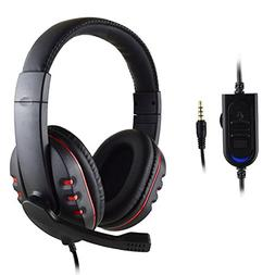 FNSHIP 3.5mm Wired Over-head Stereo Headband Gaming Headset