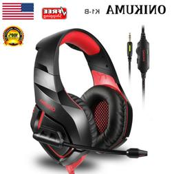 Wired Stereo PC Gaming Headset Headphone For PS4 XBOX ONE IP