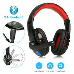 Wireless Bluetooth Gaming Headset Headphones With Mic for PC