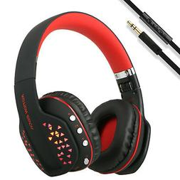 Wireless Pro Gaming Headset for Xbox One PC PS4 With Mic LED