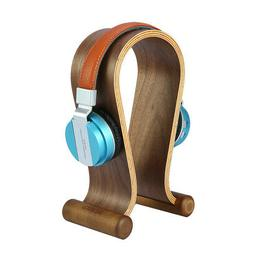 Wooden Walnut Wood Headphone Gaming Headset Display Stand Ho