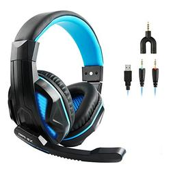 VOSENSE X2-PRO Wired Stereo Gaming Headset USB LED Lights fo