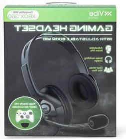 Xbox 360 Gaming Headset Vibe Adjustable Boom Mic Wired Micro