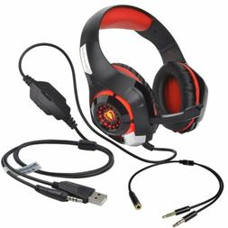 Xbox One Headset Honey PS4 Gaming LED Headphones With Microp