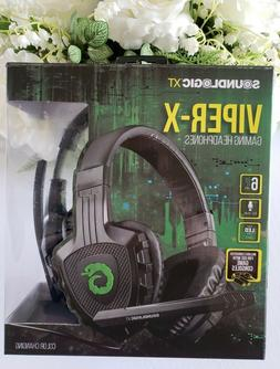 Soundlogic XT Viper-X Gaming Color Changing Headphones Heads
